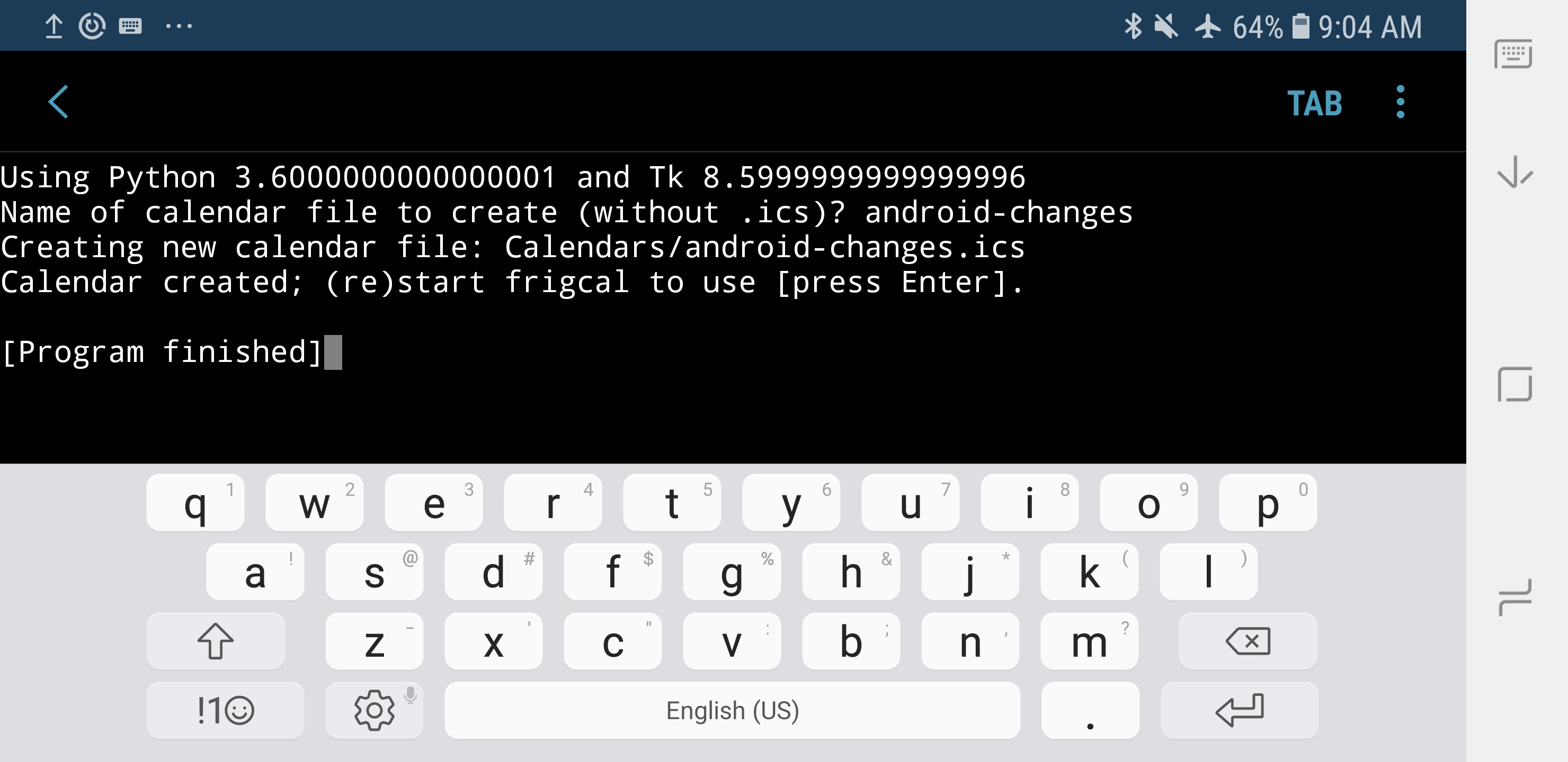 Using tkinter Programs on Android: Provisional Guide